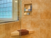 A shower seat and niche