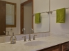 The sink area in the master bath.