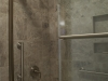 The master bathroom shower/tub