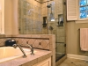 A look at the tub and shower area