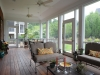 Inside this screened porch
