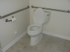 The handicap accessible commode area