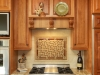 Tile can be used as can accent behind a stove