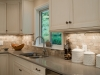 Solid surface and beautiful tile backsplash