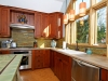 Different kinds of tile were used in this kitchen
