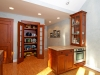 Custom cabinetry was made to allow for the homeowners collections